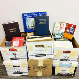 Six Boxes of American Revolution-related Books