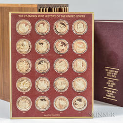 Franklin Mint History of the United States Proof Bronze 200-medal Set.     Estimate $20-200