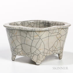 Crackle-glazed Narcissus Planter