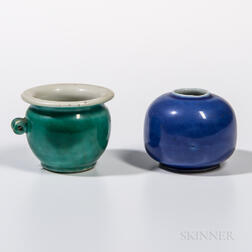 Two Miniature Ceramic Jars