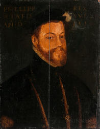European School, 16th Century Style, Possibly After Anthonis Mor (Spanish, 1519-1577)      Portrait of Phillip II of Spain