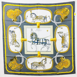 "Hermes ""Grand Apparat"" Silk Scarf"