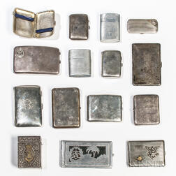 Group of British Commonwealth Cigarette Cases