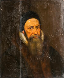 Dutch School, 17th Century Style      Bearded Man in a Ruff and Black Cap