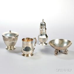 Four Pieces of Tiffany & Co. Sterling Silver Tableware