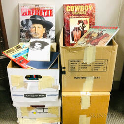 Four Boxes of Books Mostly Relating to the American West