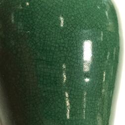Apple Green Crackle-glaze Vase