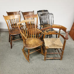 Eight Early Chairs.     Estimate $300-500