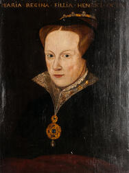 European School, 16th Century Style, Possibly after Anthonis Mor (Spanish, 1519-1577), Portrait of Queen Mary, Daughter of Henry the VI