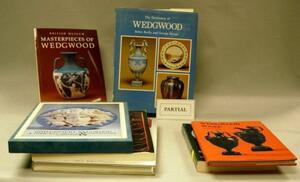 Approximately Sixty-five Wedgwood, British Ceramics, and Glass Related Reference Books.