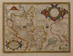 Tartary: China, Japan, and the West Coast of North America.   Abraham Ortelius (1527-1598) Tartariae sive Magni Chami Regni Typus