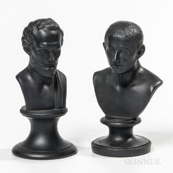 Two Small Wedgwood Black Basalt Busts
