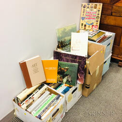 Five Boxes of Art, Antiques, and Collectibles Books