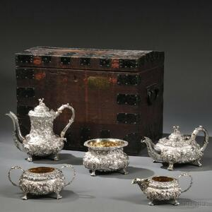 Five-piece Victorian Sterling Silver Tea and Coffee Service