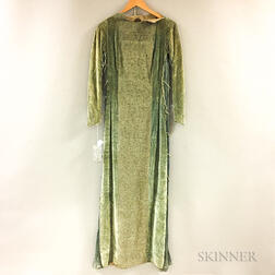Mariano Fortuny Velvet and Silk Gown