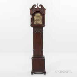 "Carved Mahogany English Dwarf or ""Grandmother's"" Clock"