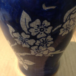 Dedham Pottery Apple Blossom Vase