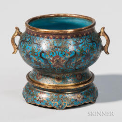 Cloisonne Censer and Stand