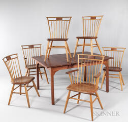 Dining Table with Six Thomas Moser Chairs