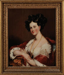 Attributed to Gilbert Stuart (Massachusetts, Rhode Island, England, 1755-1828)      Portrait of Mrs. Clement