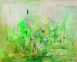 Zao Wou-Ki (French/Chinese, b. 1921)    Abstract in Green