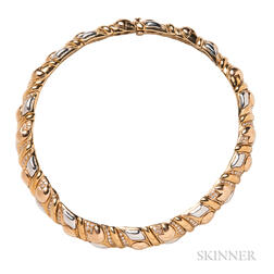 18kt Bicolor Gold and Diamond Necklace