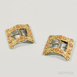 Pair of 18th Century-style Brass Shoe Buckles.     Estimate $20-200