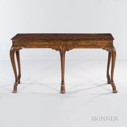 Baroque-style Veneered and Inlaid Console Table