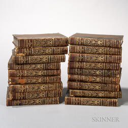 Decorative Bindings, Three Sets, Approximately Thirty-nine Volumes