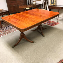 Federal-style Inlaid Mahogany Dining Suite