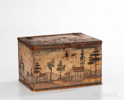 Rufus Porter Attributed Paint-decorated Box