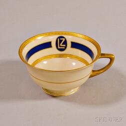 Heinrich & Co. Porcelain Cup from the Graf Zeppelin   Airship
