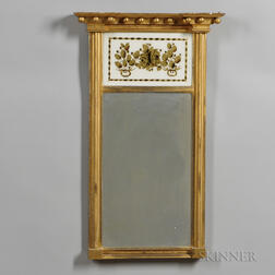 Gilt-gesso and Eglomise Mirror