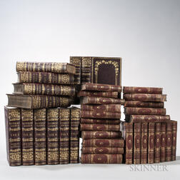 Decorative Bindings, Two Sets, Approximately Thirty-six Volumes