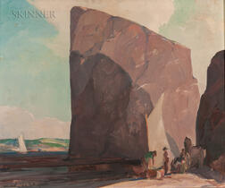 Hoyland Bettinger (American, 1890-1950)      The Percé Rock
