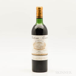 Chateau Kirwan 1970, 1 bottle