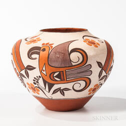 Contemporary Polychrome Acoma Jar
