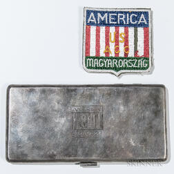 Allied Control Commission Cigarette Case and Patch