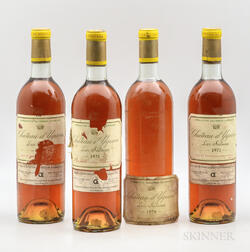 Chateau dYquem, 4 bottles