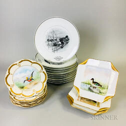 Twenty Porcelain Bird Plates