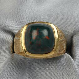 14kt Gold and Bloodstone Ring