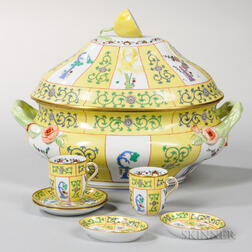 Herend Porcelain Siang Jaune Pattern Tableware