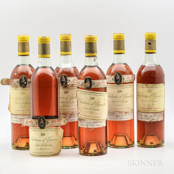 Chateau dYquem 1967, 6 bottles