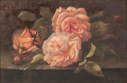 American School, 20th Century      Still Life with Roses