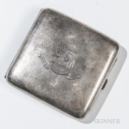 Silver Duke of Wellington Regiment Cigarette Case