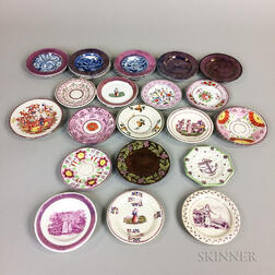 Twenty-six Lustre-decorated Ceramic Cup Plates.