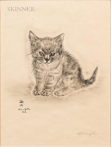 Léonard Tsuguharu Foujita (French/Japanese, 1886-1968)      Five Plates from Book of Cats