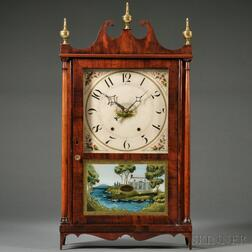Mahogany Pillar and Scroll Clock by Mark Leavenworth