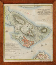 """Stedman's """"Plan of the Action at Bunker's Hill"""" Map"""
