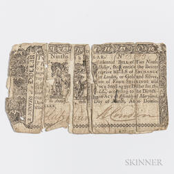 Maryland March 1, 1770 $2/9, MD-51